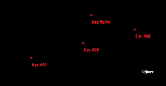 Frýdlant 428, Frýdlant nad Ostravicí na parcele st. 2400/1 v KÚ Frýdlant nad Ostravicí, Katastrální mapa
