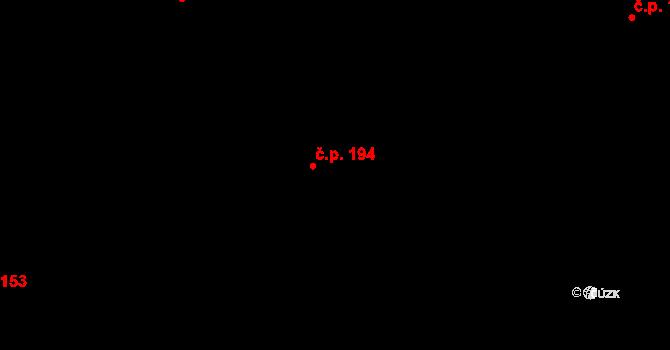 Hejnice 194 na parcele st. 246 v KÚ Hejnice, Katastrální mapa