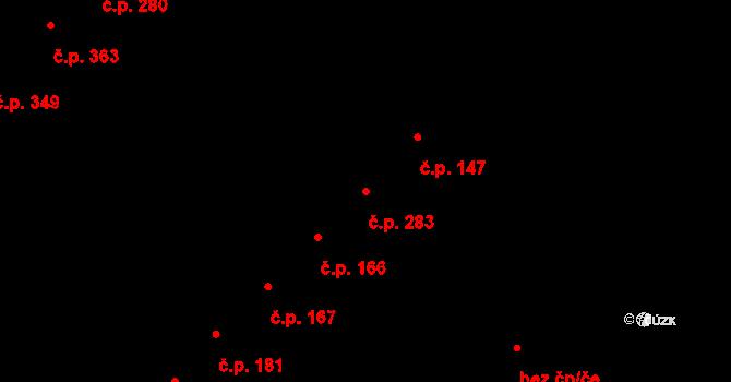 Hejčín 283, Olomouc na parcele st. 381 v KÚ Hejčín, Katastrální mapa