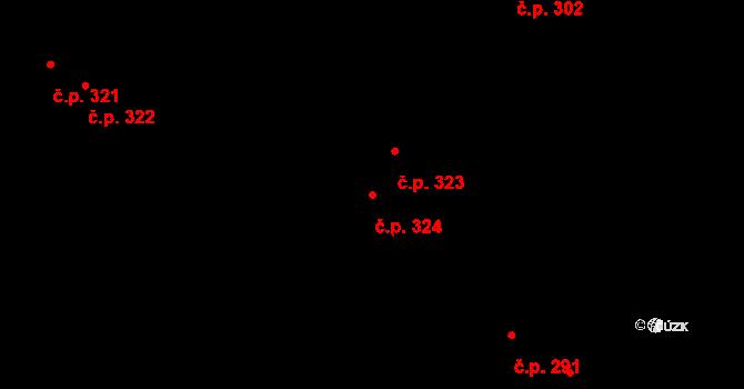 Povel 324, Olomouc na parcele st. 419 v KÚ Povel, Katastrální mapa