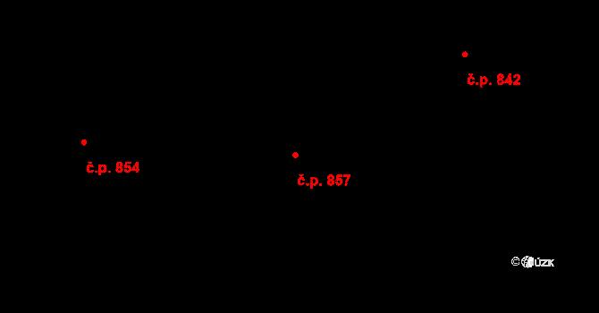 Horní Jirčany 857, Jesenice na parcele st. 520 v KÚ Horní Jirčany, Katastrální mapa