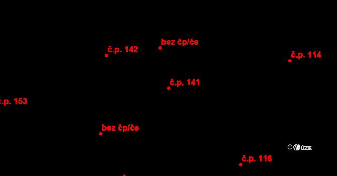 Nová Ves u Nového Města na Moravě 141 na parcele st. 374 v KÚ Nová Ves u Nového Města na Moravě, Katastrální mapa