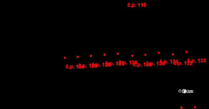 Doubravice 127, Pardubice na parcele st. 1245 v KÚ Semtín, Katastrální mapa