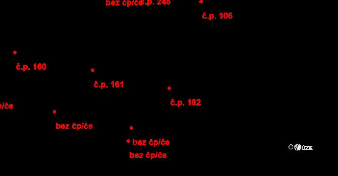 Malšova Lhota 162, Hradec Králové na parcele st. 250 v KÚ Malšova Lhota, Katastrální mapa