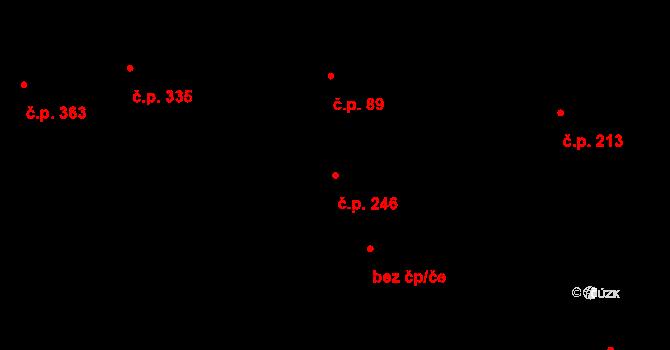 Lípa 246 na parcele st. 82 v KÚ Lípa nad Dřevnicí, Katastrální mapa