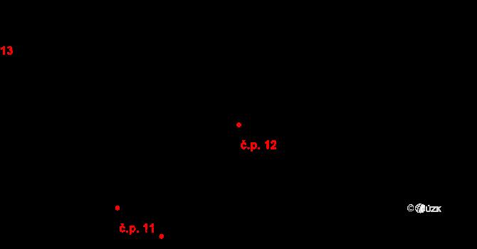 Jetišov 12, Nihošovice na parcele st. 5 v KÚ Jetišov, Katastrální mapa