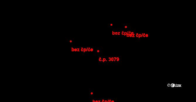 Česká Lípa 3079 na parcele st. 4009 v KÚ Česká Lípa, Katastrální mapa