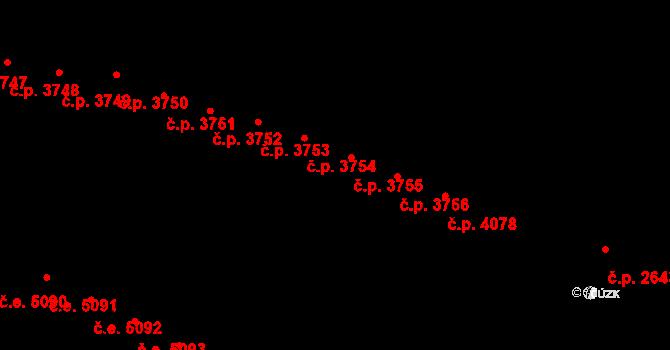 Jihlava 3755 na parcele st. 5375/10 v KÚ Jihlava, Katastrální mapa