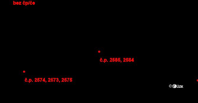 Kročehlavy 2584,2585, Kladno na parcele st. 3091 v KÚ Kročehlavy, Katastrální mapa