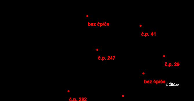 Vtelno 247, Most na parcele st. 455 v KÚ Vtelno, Katastrální mapa