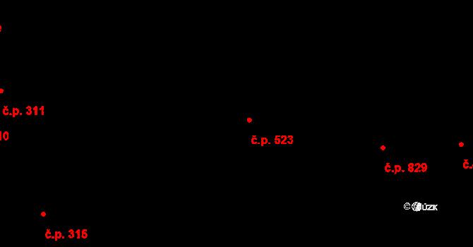 Soběslav III 523, Soběslav na parcele st. 3769/18 v KÚ Soběslav, Katastrální mapa