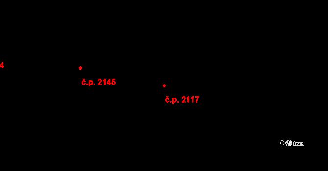 Velké Meziříčí 2117 na parcele st. 3627/34 v KÚ Velké Meziříčí, Katastrální mapa