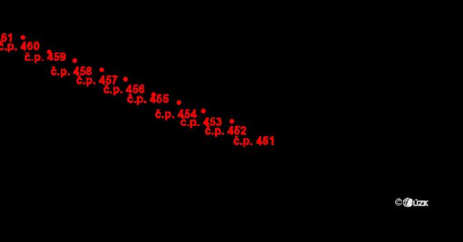 Výškovice 451, Ostrava na parcele st. 1055 v KÚ Výškovice u Ostravy, Katastrální mapa