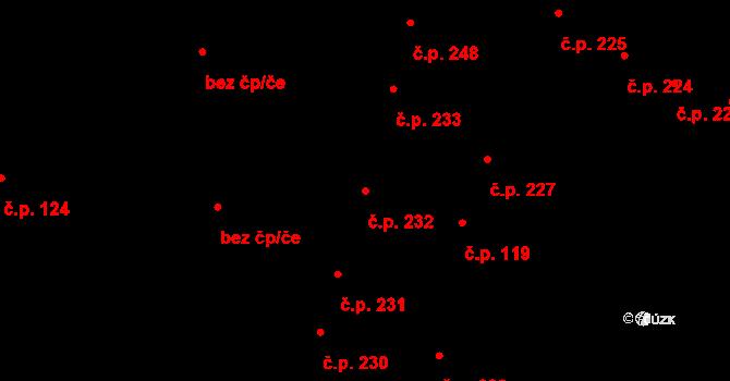 Vysoké Mýto-Město 232, Vysoké Mýto na parcele st. 235 v KÚ Vysoké Mýto, Katastrální mapa