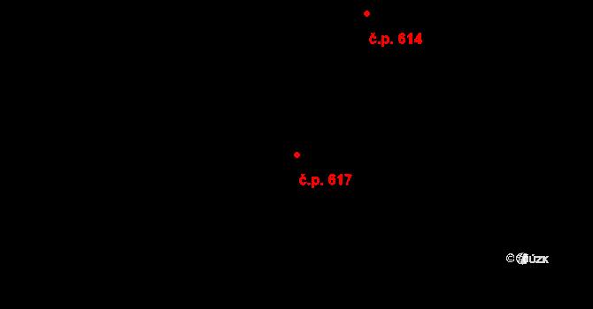 Okříšky 617 na parcele st. 894 v KÚ Okříšky, Katastrální mapa