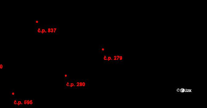 Dolní Počernice 279, Praha na parcele st. 1321 v KÚ Dolní Počernice, Katastrální mapa