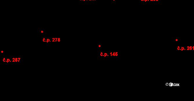 Radim 145 na parcele st. 289 v KÚ Radim u Kolína, Katastrální mapa