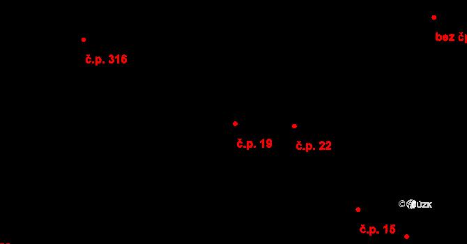 Starý Hrozenkov 19 na parcele st. 666 v KÚ Starý Hrozenkov, Katastrální mapa