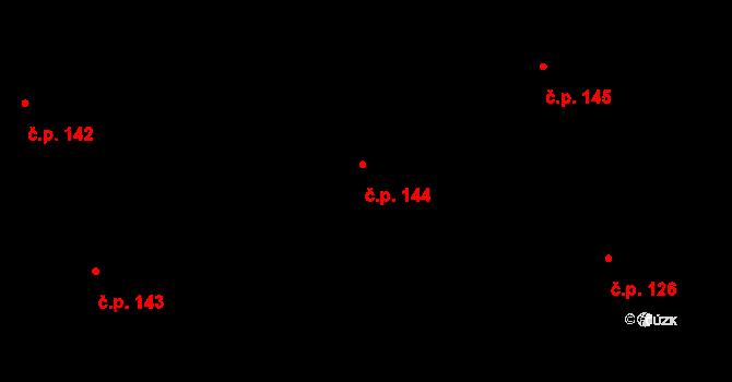 Radíkov 144, Olomouc, Katastrální mapa