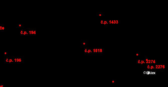 Dobrá Voda u Českých Budějovic 1518 na parcele st. 3452/2 v KÚ Dobrá Voda u Českých Budějovic, Katastrální mapa