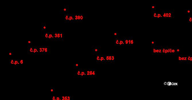 Žižkov 583, Praha na parcele st. 670 v KÚ Žižkov, Katastrální mapa