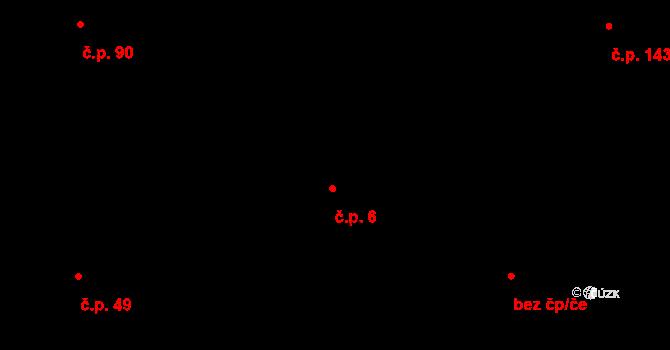 Albrechtice 6 na parcele st. 51 v KÚ Albrechtice u Lanškrouna, Katastrální mapa