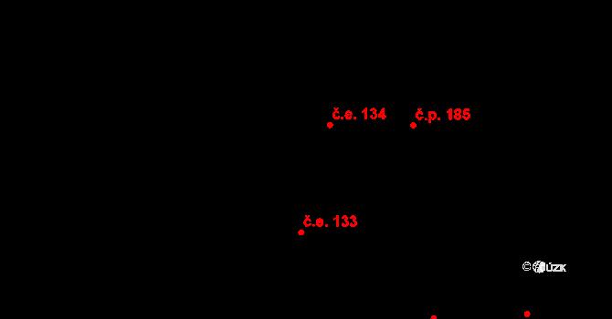 Davle 134 na parcele st. 679 v KÚ Davle, Katastrální mapa