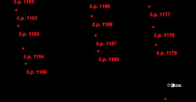 Svítkov 1166, Pardubice na parcele st. 1986 v KÚ Svítkov, Katastrální mapa