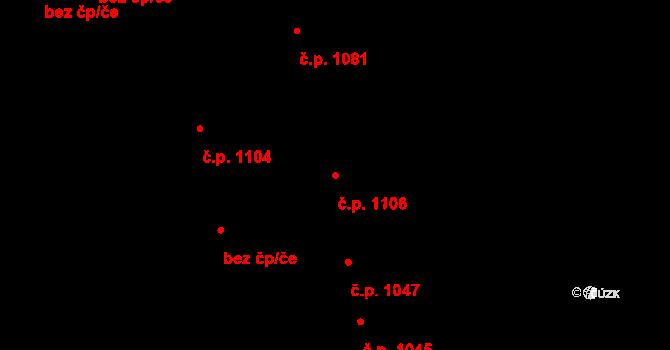 Ústí nad Labem-centrum 1106, Ústí nad Labem na parcele st. 654/1 v KÚ Ústí nad Labem, Katastrální mapa