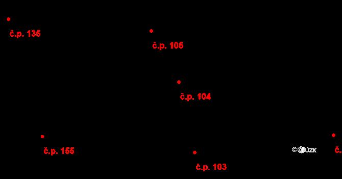 Vnitřní Město 104, Třebíč na parcele st. 22 v KÚ Třebíč, Katastrální mapa