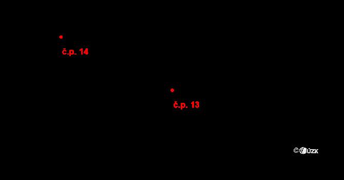 Jetišov 13, Nihošovice na parcele st. 4 v KÚ Jetišov, Katastrální mapa