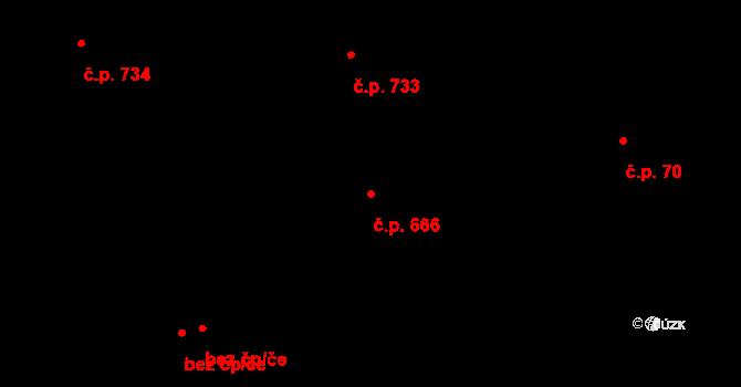 Prštné 666, Zlín na parcele st. 110/2 v KÚ Prštné, Katastrální mapa