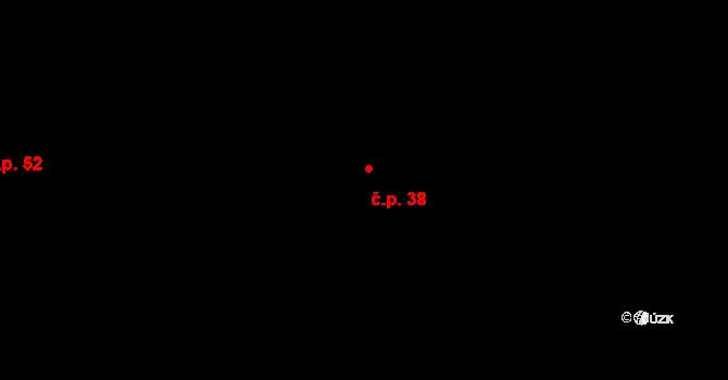 Lhota pod Hořičkami 38 na parcele st. 38 v KÚ Lhota pod Hořičkami, Katastrální mapa
