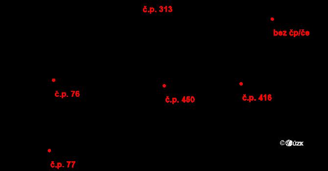 Petrovice 450, Praha na parcele st. 240/4 v KÚ Petrovice, Katastrální mapa