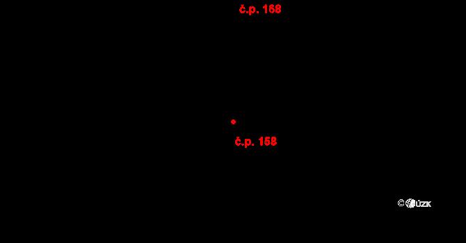 Velíková 158, Zlín na parcele st. 686/2 v KÚ Velíková, Katastrální mapa