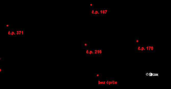 Zásada 216 na parcele st. 358 v KÚ Zásada, Katastrální mapa