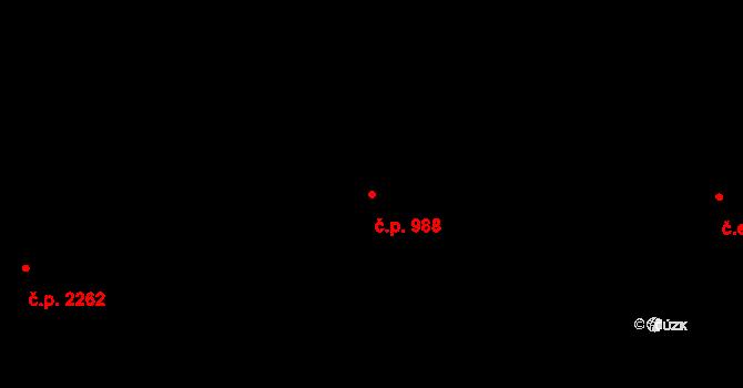 Petřvald 988 na parcele st. 5633 v KÚ Petřvald u Karviné, Katastrální mapa