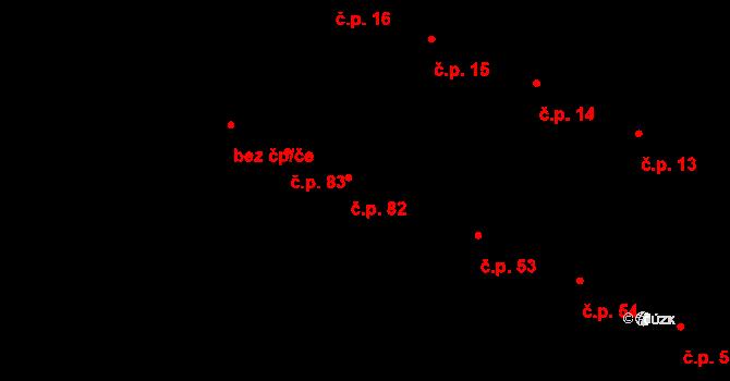 Karolín 82 na parcele st. 97 v KÚ Karolín u Sulimova, Katastrální mapa