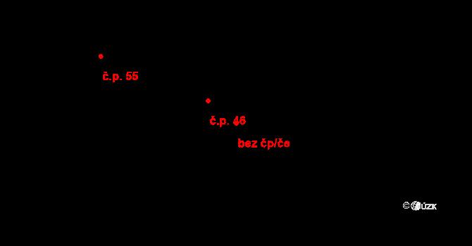 Březno 45029270 na parcele st. 792 v KÚ Březno u Chomutova, Katastrální mapa