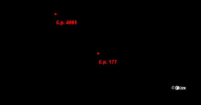 Kokonín 177, Jablonec nad Nisou na parcele st. 161/2 v KÚ Kokonín, Katastrální mapa