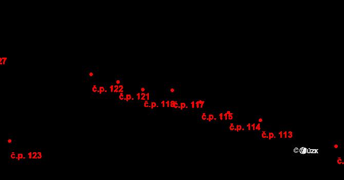 České Budějovice 1 117, České Budějovice na parcele st. 133 v KÚ České Budějovice 1, Katastrální mapa