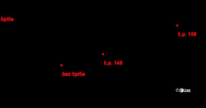 Vyskytná nad Jihlavou 145 na parcele st. 231 v KÚ Vyskytná nad Jihlavou, Katastrální mapa