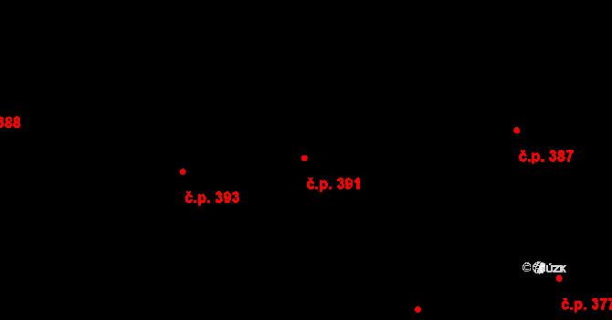 Zásada 391 na parcele st. 612 v KÚ Zásada, Katastrální mapa