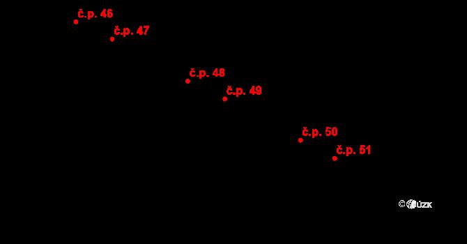 Václavy 49 na parcele st. 57 v KÚ Václavy, Katastrální mapa