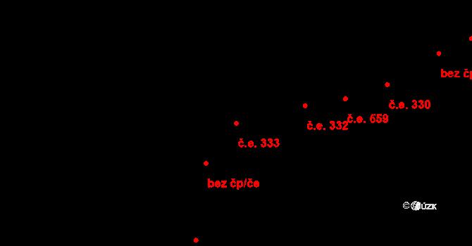 Lety 333 na parcele st. 1472 v KÚ Lety u Dobřichovic, Katastrální mapa