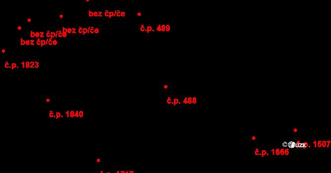 Moravská Ostrava 488, Ostrava na parcele st. 464/7 v KÚ Moravská Ostrava, Katastrální mapa