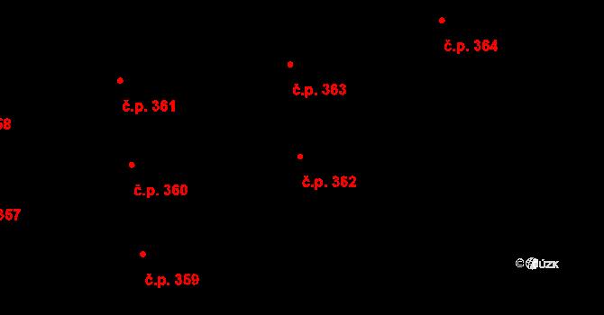 Valcha 362, Plzeň, Katastrální mapa