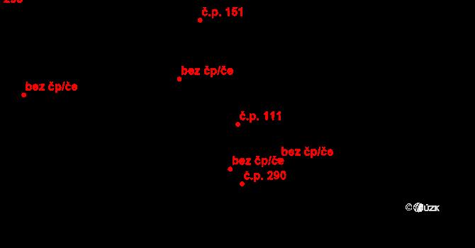 Nová Role 111 na parcele st. 107/1 v KÚ Nová Role, Katastrální mapa