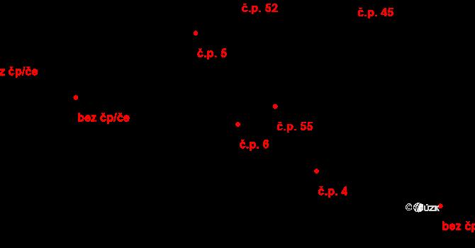 Dolní Bezděkov 6, Bratronice na parcele st. 41 v KÚ Dolní Bezděkov u Kladna, Katastrální mapa
