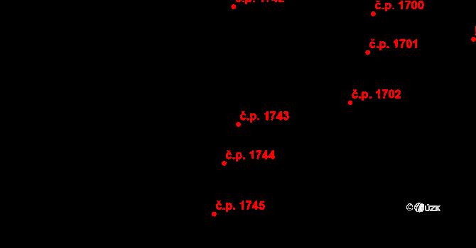 Nový Bydžov 1743 na parcele st. 900 v KÚ Nový Bydžov, Katastrální mapa